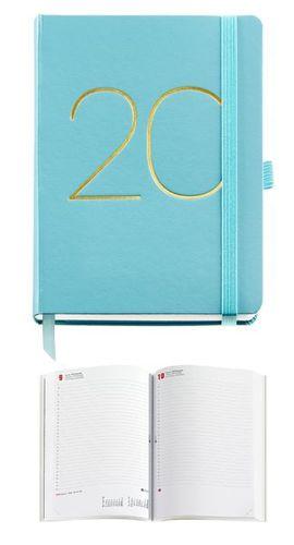 AGENDA MIQUELRIUS ANUAL 2020 BASIC CHESTER JOURNAL 122X168 DIA/PAGINA AGUAMARINA MOD 3312