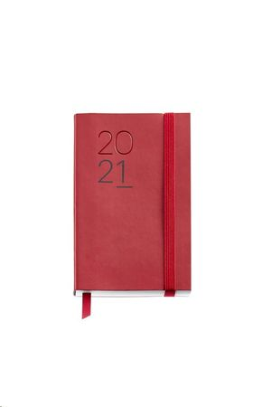 AGENDA 2021 122X168 SEMANA/VISTA MIQUELRIUS JOURNAL LUXOR FLEXIBLE ROJO REF 33135