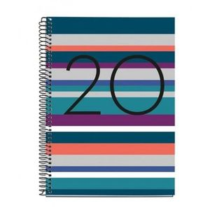 AGENDA ANUAL 2020 MIQUELRIUS ESPIRAL PLUS 155X213 DIA/PAGINA NORUEGA 34024