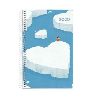 AGENDA ANUAL 2020 MIQUELRIUS ESPIRAL ACTIVA 117X182 DIA/PAGINA ICEBERG 38136