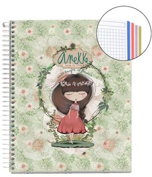 CUADERNO NOTEBOOK ANEKKE DIN A5 120 HOJAS 70 GRS REF 46410