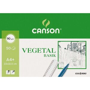 BLOC PAPEL VEGETAL DIN A4 CANSON 50 HOJAS