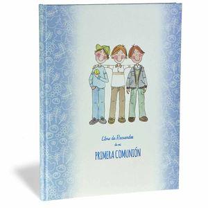 ALBUM LIBRO DE RECUERDOS DE MI PRIMERA COMUNION BUSQUETS AZUL AMIGOS