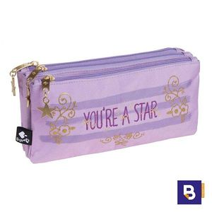 PORTATODO TRIPLE ESTUCHE BUSQUETS YOU'RE A STAR LILA 17.008.09250.0