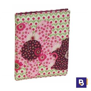 BILLETERA MONEDERO BUSQUETS BILLETERO SPORT PATCHWORK BURDEOS FLORES 17.016.09240.0