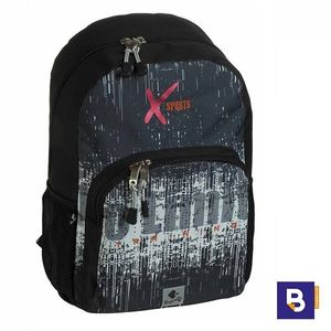 MOCHILA 45CM BUSQUETS ADAPTABLE A CARRO XSPORTS NO LIMITS NEGRA 17.063.09270.0