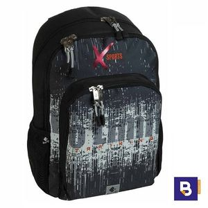MOCHILA DOBLE 45CM BUSQUETS ADAPTABLE A CARRO XSPORTS NO LIMITS NEGRA 17.075.09270.0