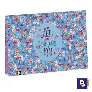 VADE SOBREMESA ESCRIBANIA DOBLE BUSQUETS DREAMS AZUL MARIPOSAS 51.095.09230.0