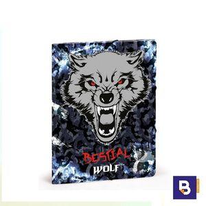 CARPETA CARTON SOLAPAS FOLIO DIS 2 BESTIAL WOLF 20.268.04910
