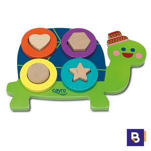 JUEGO ENCAJABLE DE MADERA TORTUGA TURTLE PUZZLE CAYRO THE GAMES 8109