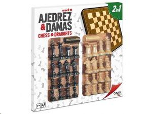 TABLERO AJEDREZ-DAMAS CAYRO CON ACCESORIOS