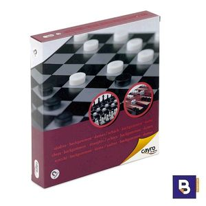 JUEGO MAGNETICO DE AJEDREZ BACKGAMMON Y DAMAS CAYRO THE GAMES 440