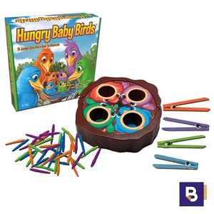 JUEGO HUNGRY BABY BIRDS PAJARITOS Y GUSANOS CAYRO THE GAMES 891