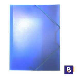 CARPETA PLASTICO POLIPROPILENO CARCHIVO FOLIO COLOR AZUL 2033KF50