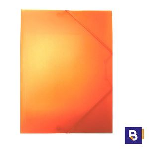 CARPETA PLASTICO POLIPROPILENO CARCHIVO FOLIO COLOR NARANJA 2033KF52