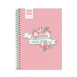 AGENDA ESCOLAR FINOCAM 1/8 FLOWERS SEMANA VISTA 634220218 2017/18