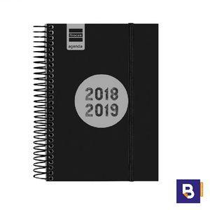 AGENDA ESCOLAR FINOCAM 2018/19 DIA PAGINA ESPIR LABEL NEGRO E8 633366019