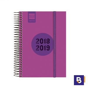 AGENDA ESCOLAR FINOCAM 2018/19 DIA PAGINA ESPIR LABEL ROSA E8 633364519