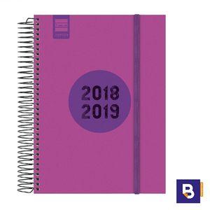 AGENDA ESCOLAR FINOCAM 2018/19 DIA PAGINA 1/4 ESPIR LABEL ROSA E10 633124519