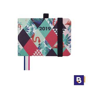 AGENDA ANUAL 2019 FINOCAM SEMANA VISTA MINIMAL M0 APAISADA DESIGN FLAMENCOS 881502419