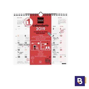 CALENDARIO DE PARED FINOCAM 2019 PARA ESCRIBIR M MES A LA VISTA 780060019