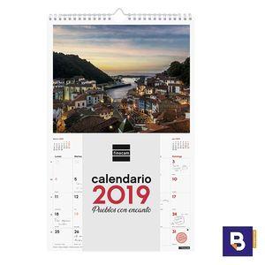 CALENDARIO DE PARED 2019 FINOCAM ESPIRAL CON IMAGENES DE PUEBLOS CON ENCANTO 780553319