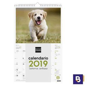 CALENDARIO DE PARED 2019 FINOCAM ESPIRAL CON IMAGENES DE CACHORROS CARIÑOSOS 780552819