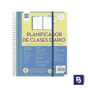BLOC ESPIRAL LIBRETA FINOCAM DOCENTES PLANIFICADOR DE CLASES DIARIO PARA PROFESORES DIA PAGINA 5340600
