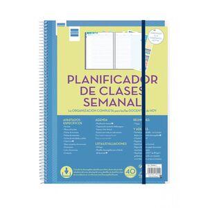 BLOC ESPIRAL LIBRETA FINOCAM DOCENTES PLANIFICADOR DE CLASES DIARIO PARA PROFESORES SEMANA VISTA 5340400