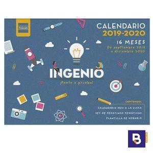 CALENDARIO DE PARED 2019/20 FINOCAM MES VISTA 16 MESES INGENIO 540003320