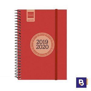 AGENDA ESCOLAR 2019/20 FINOCAM SEMANA VISTA E8 120X171 ESPIRAL LABEL ROJO 633483020