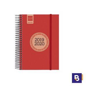 AGENDA ESCOLAR 2019/20 FINOCAM DIA PAGINA E8 120X171 ESPIRAL LABEL ROJO 633363020