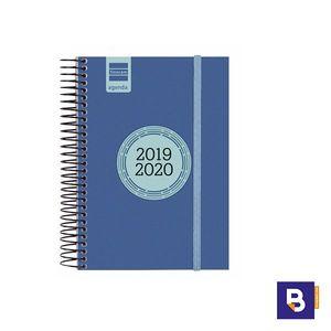 AGENDA ESCOLAR 2019/20 FINOCAM DIA PAGINA E8 120X171 ESPIRAL LABEL AZUL COBALTO 633361520