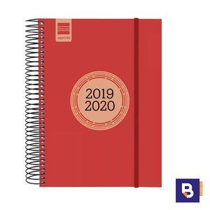 AGENDA ESCOLAR 2019/20 FINOCAM DIA PAGINA E10 155X215 ESPIRAL LABEL ROJO 633123020