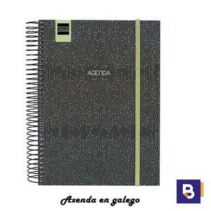 AGENDA ESCOLAR GALLEGO 2019/20 FINOCAM AXENDA EN GALEGO DIA PAGINA 1/8 155X212 ESPIRAL SECUNDARIA TECH 637111420