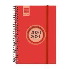 AGENDA ESCOLAR FINOCAM 2020/21 1/8 SEMANA/VISTA ESPIR LABEL ROJO REF 633483021