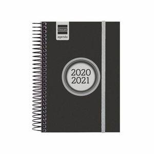 AGENDA ESCOLAR FINOCAM 2020/21 1/8 DIA/PAGINA ESPIR LABEL NEGRO REF 633366021