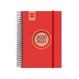 AGENDA ESCOLAR FINOCAM 2020/21 1/8 DIA/PAGINA ESPIR LABEL ROJO REF 633363021