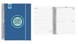 AGENDA ESCOLAR FINOCAM 2020/21 DIA/PAGINA E10 ESPIR LABEL AZUL REF 633121621