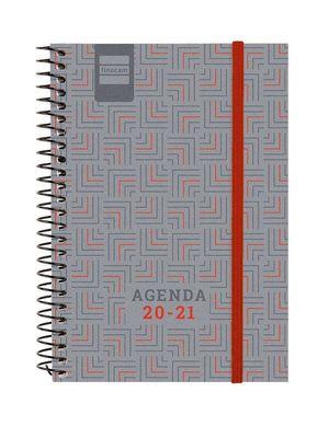 AGENDA ESCOLAR FINOCAM 2020/21 ESPIR NOBEL ROJO DIA/PAGINA 1/8 REF 634520221