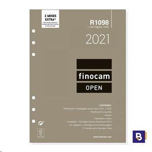 RECAMBIO AGENDA 2021 FINOCAM OPEN 1000 DIA PAGINA R1098