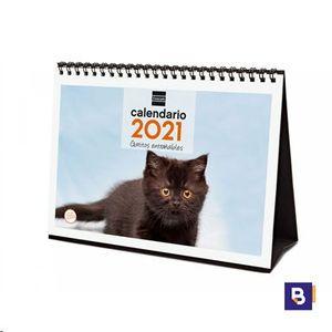 CALENDARIO 2021 SOBREMESA GATITOS ENTRAÑABLES FINOCAM