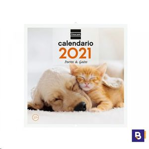 CALENDARIO 2021 DE PARED PERROS & GATOS FINOCAM