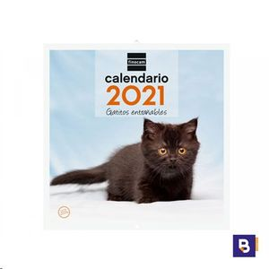CALENDARIO 2021 DE PARED GATITOS ENTRAÑABLES FINOCAM