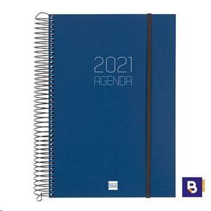 AGENDA FINOCAM 2021 ESPIRAL A5+ DP OPAQUE E11 AZUL 742871021