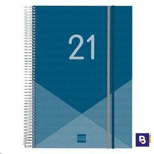 AGENDA 2021 A5 DIA PAGINA ESPIRAL FINOCAM YEAR AZUL 741101021