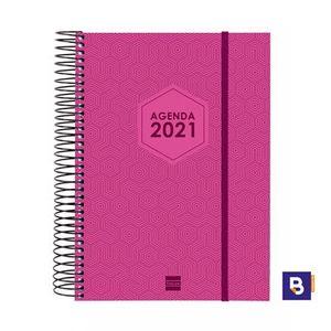 AGENDA FINOCAM 2021 ESPIRAL A5 DP FUTURA E10 ROSA 743400221