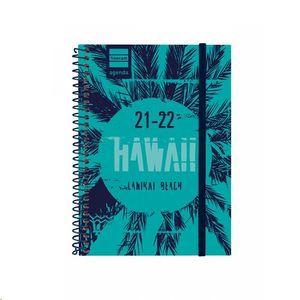 AXENDA GALEGO FINOCAM 2021/22 ESPIRAL 1/8 DIA/PAGINA HAWAII
