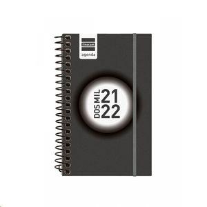 AXENDA GALEGO FINOCAM 2021/22 ESPIRAL 1/8 DIA/PAGINA NEGRO