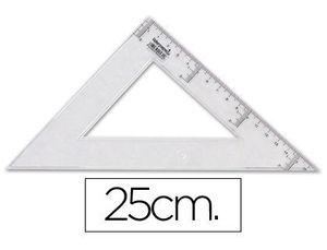 ESCUADRA 25 CM PLASTICO CRISTAL LIDERPAPEL